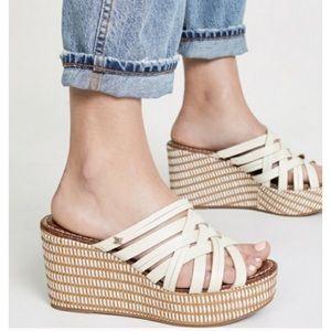 Sam Edelman NWOT Devon Woven Platform Wedge Shoes